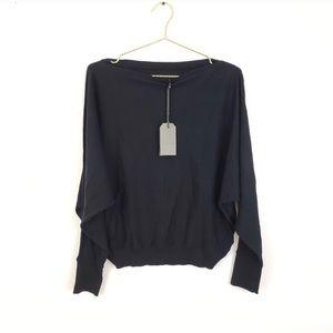 Allsaints 100% Cotton Ellie Sweater Black SZ M